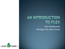 An Introduction to Flex
