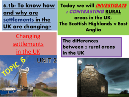 Changing settlements in the UK