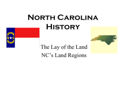 North Carolina History - Johnston County Schools