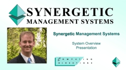 SynergyOne Management System for Schools