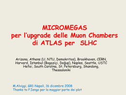 Micromegas for ATLAS MUON SPECTROMETER UPGRADE