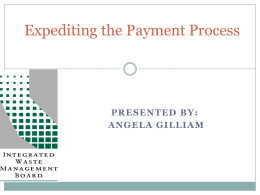 Expediting the Payment Process