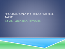 "Hooked on a myth: do fish feel pain?"" by Victoria Braithwaite"