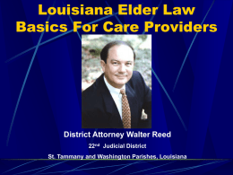 Elder Abuse Law - Home - St. Tammany SALT Council
