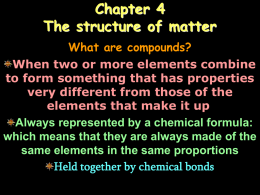 Chapter 4 The structure of matter