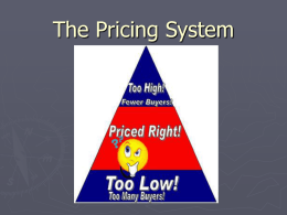 The Pricing System