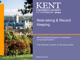 Note-taking & Record Keeping
