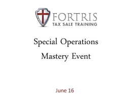 Focus Friday - FORTRIS Tax Sale Training