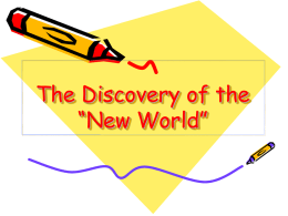 "The Discovery of the ""New World"""