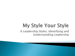 My Style Your Style - Ontario Library Service