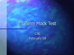 2nd Term Mock Test