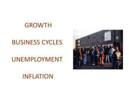 GROWTH BUSINESS CYCLES UNEMPLOYMENT INFLATION