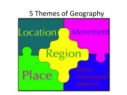 5 Themes of Geography - Independent School District 196