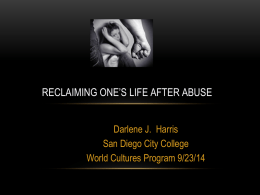 RECLAIMING ONE'S LIFE AFTER ABUSE