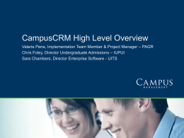 CampusCRM Overview