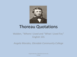 Thoreau Quotations