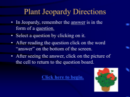 Jeopardy - POTOSI SCHOOL DISTRICT
