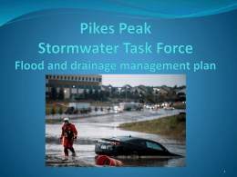 Pikes Peak Stormwater Task Force