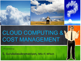 CLOUD COMPUTING & COST MANAGEMENT