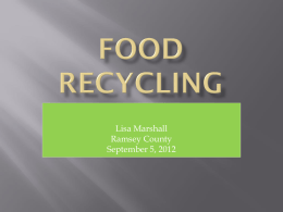 FOOD RECYCLING - Rethink Recycling