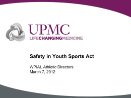 Safety in Youth Sports Act