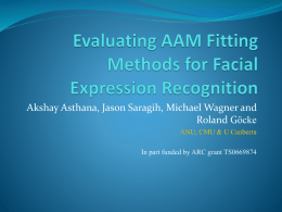 Evaluating AAM Fitting Methods for Facial Expression