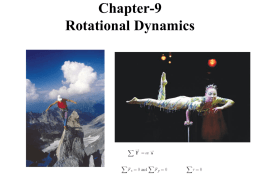 Chapter-9 Rotational Dynamics
