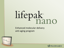 LifePak Nano Introduction Presentation