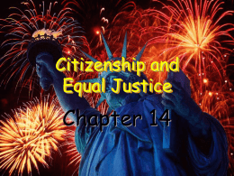 Citizenship and Equal Justice