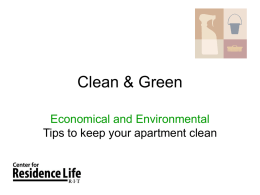 Clean & Green - Rochester Institute of Technology
