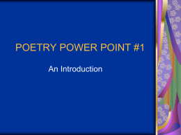 POETRY POWER POINT #1