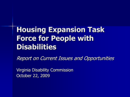 Housing Expansion Task Force for People with Disabilities