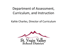 Department of Assessment, Curriculum, and Assessment Tori