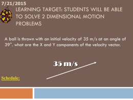 Projectile Motion - White River High School