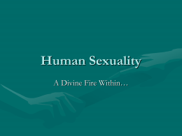 Human Sexuality - Athol Murray College of Notre Dame