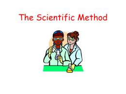 Francesco Redi and the Scientific Method