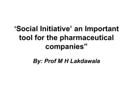 Social Initiative' an Important tool for the