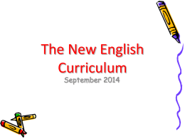 New English Curriculum - St James RC Primary | Faith in
