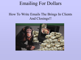 Emailing For Dollars How To Write Emails The Brings In