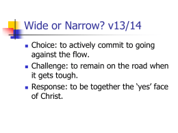 Wide or Narrow? v13/14 - St Andrews URC (Canterbury)