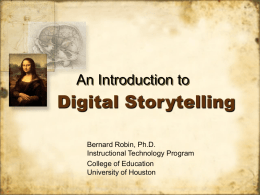 Digital Storytelling - Office of Distance Education