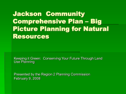 Jackson Community Comprehensive Plan