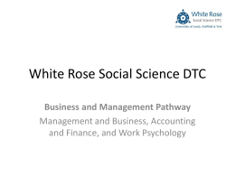 The White Rose Working Paper Series