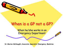 When is a GP not a GP?