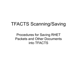 TFACTS Scanning Guide