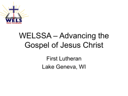 WELSSA – Advancing the Gospel of Jesus Christ