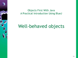 Objects First with Java - Chapter 6