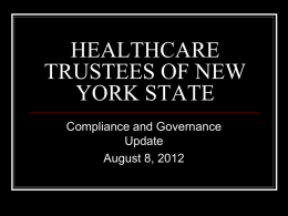 HEALTHCARE TRUSTEES OF NEW YORK STATE
