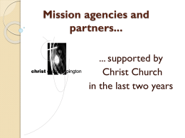 Mission agencies and partners