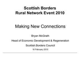 Scottish Borders Rural Network Event 2010